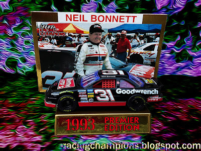 Neil Bonnett #31 Mom n Pops Goorwrench Western Steer Chevrolet Racing Champions 1/64 NASCAR diecast blog 1993 Talladega Atlanta