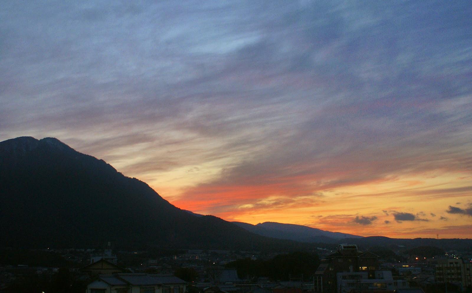 Shimabara sunset Kyushu.