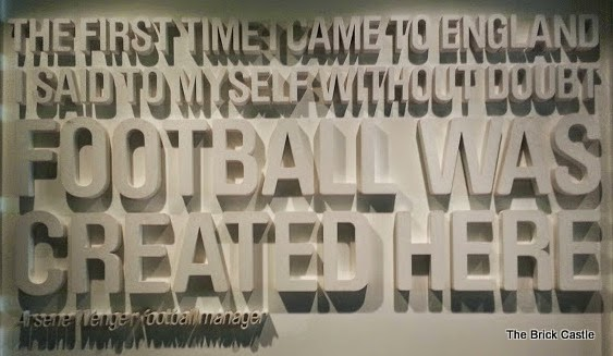 The National Football Museum at Urbis, Manchester Arsene Wenger quote Football was created here