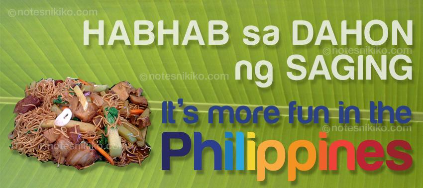 Pansit Habhab sa Dahon ng Saging - It's more fun in the Philippines