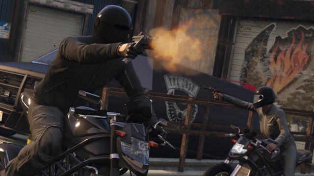 GTA-V online bikers