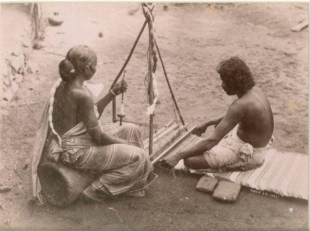 Mat Weavers - Ceylon (Sri Lanka) c1880