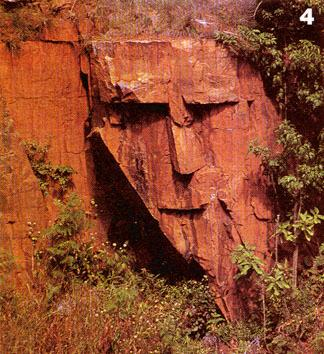 Indian Face, Wajah Manusia di Batuan Tebing