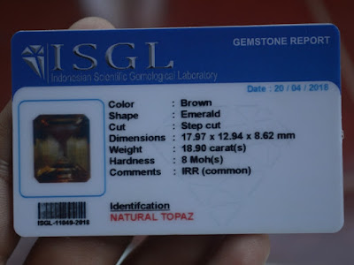 Gemology Card Topaz