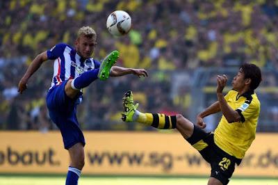 Hertha Berlin se impone 2 a 1 al Borussia Dortmund