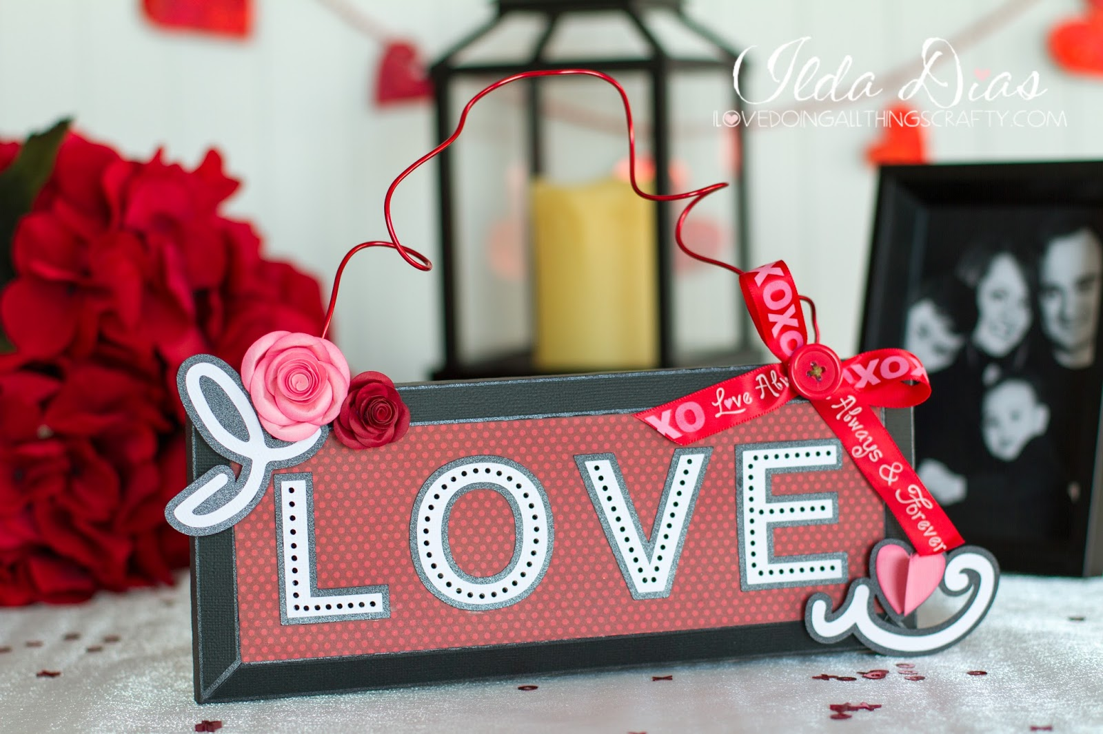 Illuminated 3D Paper I Love U Sign | SVGCuts Files