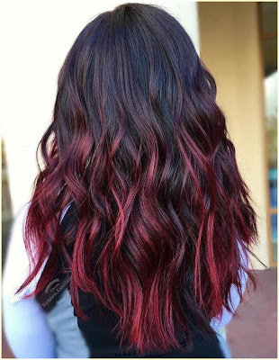 Long and Bright Hair - Two Tone Hair Color Dark On Top Light On Bottom