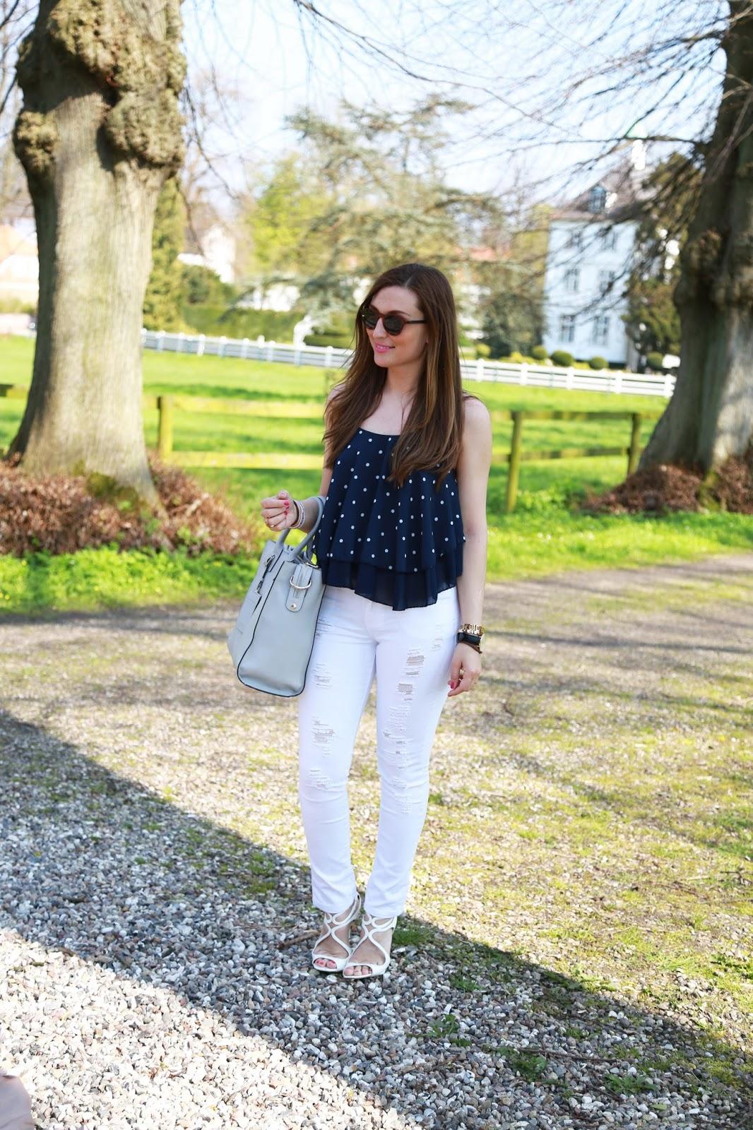 Weiße Sandaletten kombinieren - wie kombiniere ich weiße Schuhe - Sand Tasche Blogger PICARD - Fashionblogger aus Deutschland - Deutsche Fashionblogger