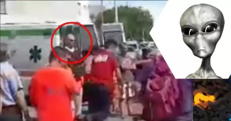 Σε ένα βίντεο ενός ατυχήματος παρατηρείται μια παράξενη φιγούρα σαν εξωγήινος!
