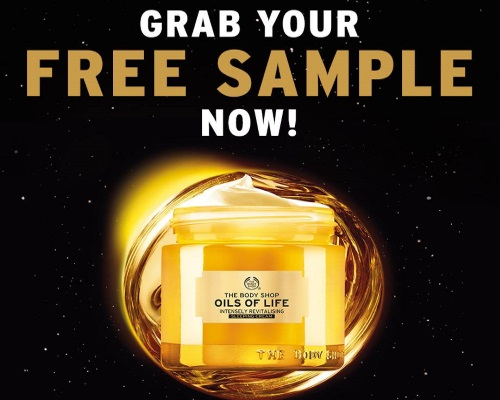 The Body Shop Free Sample Oils of Life