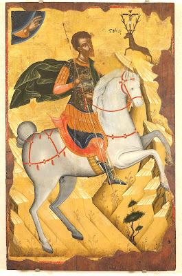 Ο Άγιος Ευστάθιος, αρχές 16ου αιώνα, αγνώστου Κρητικού ζωγράφου