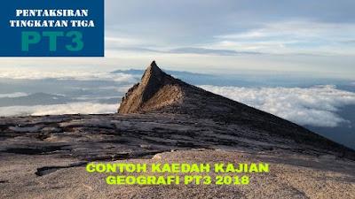 Contoh Kaedah Kajian Geografi PT3 2018