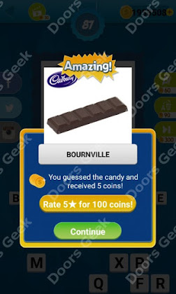 Answers, Cheats, Solutions for Guess the Candy Level 87 for android and iphone