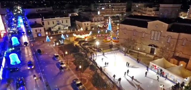 Εκπληκτικό: Χριστούγεννα στο κέντρο του Άργους (βίντεο)