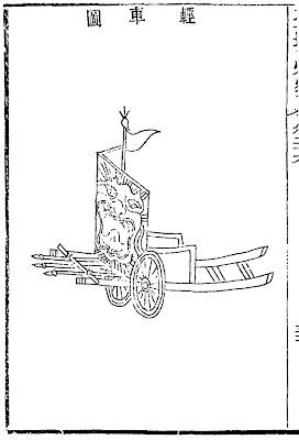 Ming Chinese lightweight gun cart