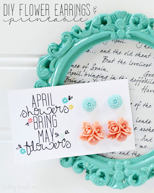 DIY Earrings & Printable from Hubby Made Me
