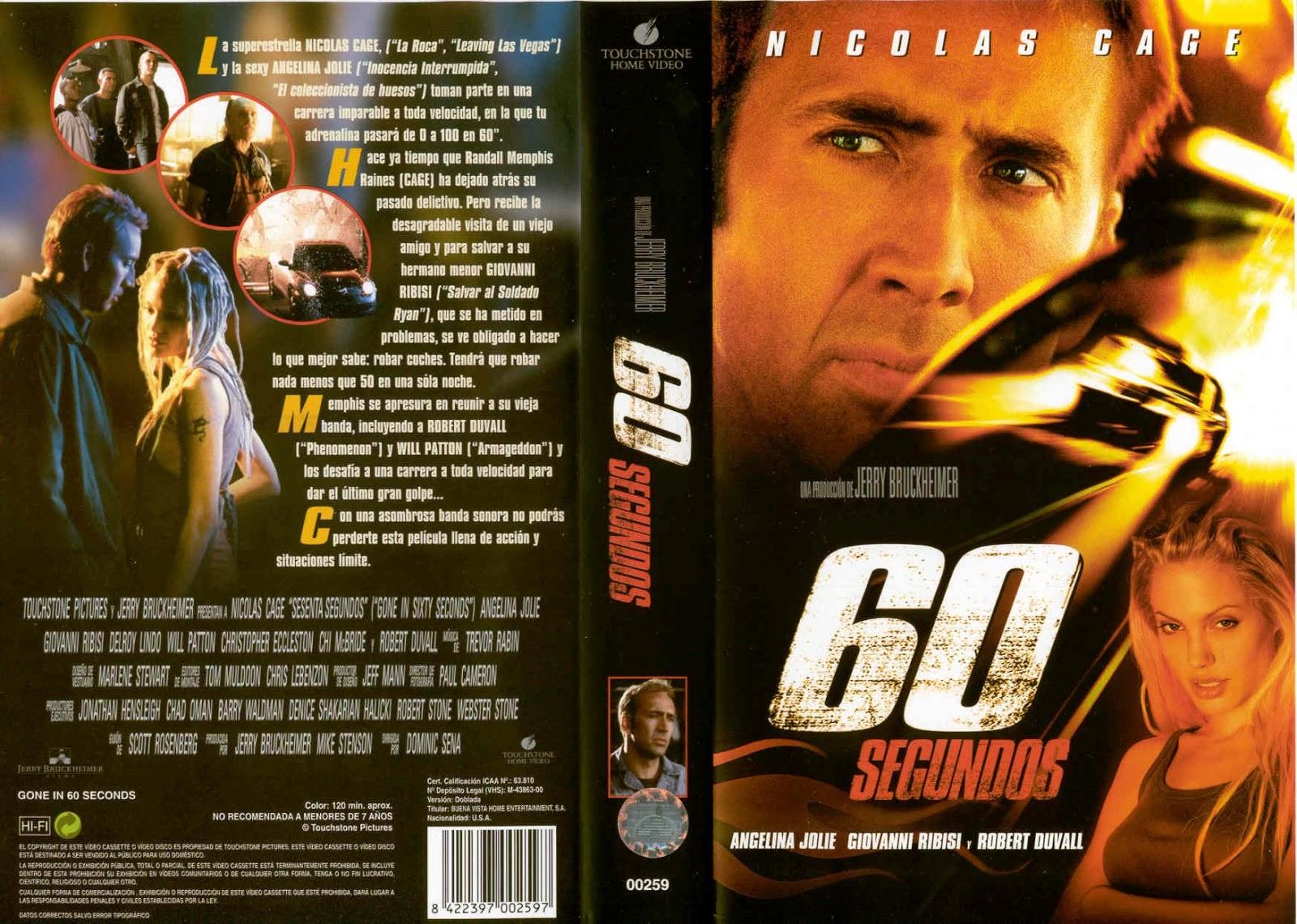 Cartel Película 60 Segundos