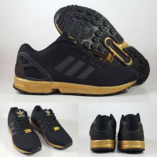 Adidas ZX Flux Black Gold Sepatu Running Premium, jual adidas zx flux , zx  flux black gold, zx flux xeno, adidas running premium