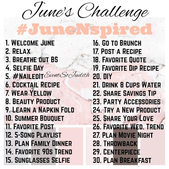 June 2018 challenge, summer challenge, get inspired, blogger, blogging challenge, junenspired, eventsojudith