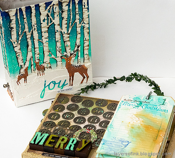 Layers of ink - December Countdown Calendar and Journal Tutorial by Anna-Karin Evaldsson.