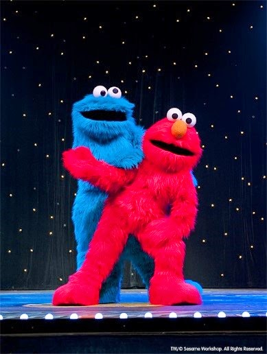 Cookie Monster and Elmo at Make a New Friend with Sesame Street Live at PlayhouseSquare, Cleveland, Ohio