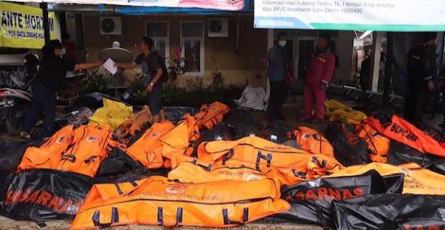 Ditpol Air Mabes Polri Sisir Perairan Serang, Puluhan Korban Tsunami Dievakuasi