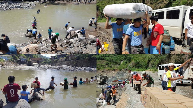 BAYANIHAN:The Filipino Spirit Is Alive And Kicking! Filipinos Helping Each Other Transport Aid For The Victims Of Super Typhoon Lawin!