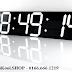 Đồng hồ led treo tường 3D đẹp Giờ : Phút : Giây