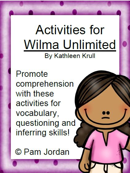 Fern Smith's Classroom Ideas Guest Freebie Friday from Creative Cat's Classroom ~ Activities for Wilma Unlimited by Kathleen Krull