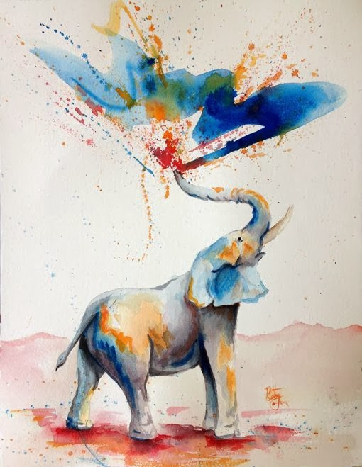 The Nicest Pictures: elephant watercolor - photo#30