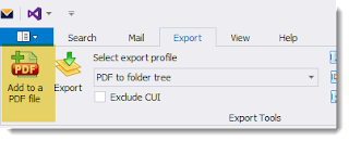 MailDex can append Outlook email to an existing PDF document.