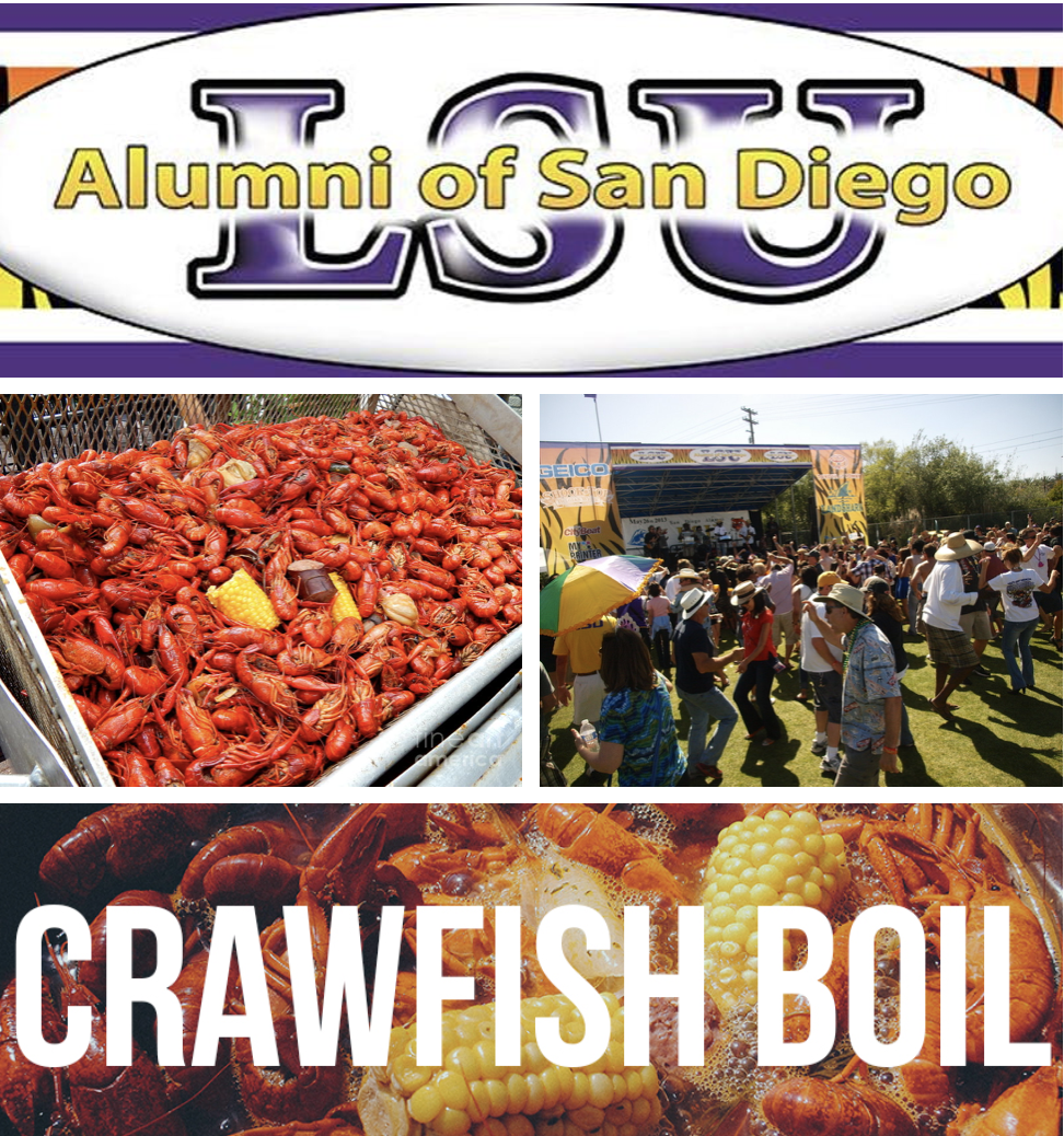 Get Tickets To The 30th Annual LSU Alumni of San Diego Crawfish Boil - May 27!