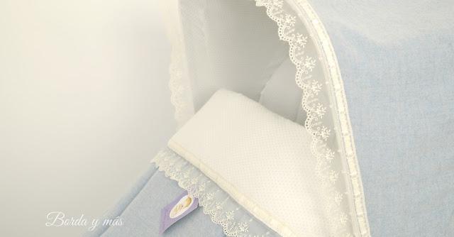bebecar azul beige organza