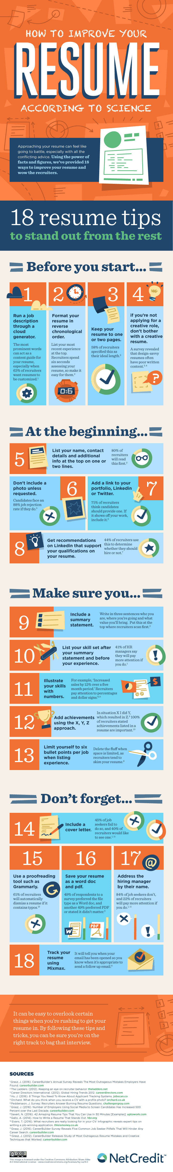 How to Improve Your Resume According to Science - #infographic