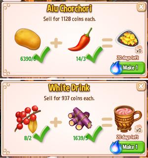 Royal Story, Cooking Ingredients