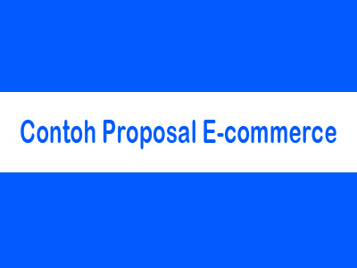 Contoh Proposal E-Commerce