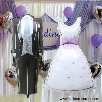 Balon Foil Setelan Jas Celana & Gaun Pengantin