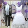 1 Set Balon Foil Setelan Jas Celana & Gaun Pengantin