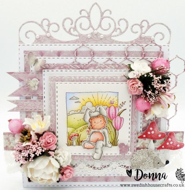 Bunny Tilda Card | By Donna