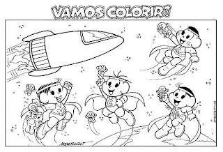 Desenhos Para Colorir E Imprimir Turma Da Monica Para Colorir E