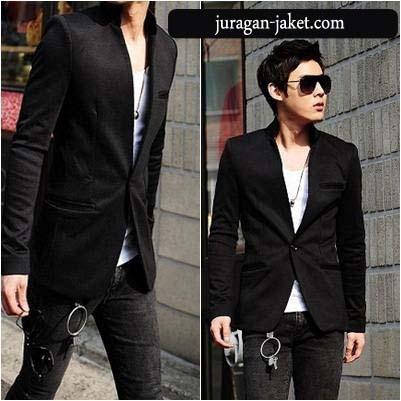 jas exclusive Black blazer BK02