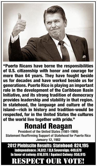 Resultado de imagen para Reagan Puerto rico