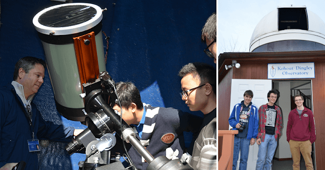 Students Participating in a Visual Observing Session at the Kohout-Dingley Observatory.