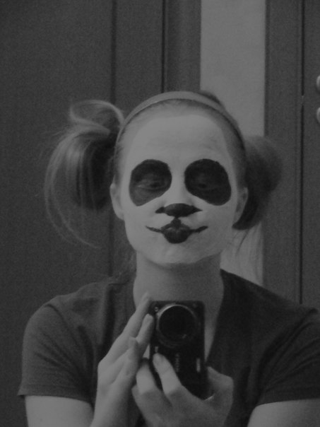 maquillaje y disfraz casero de oso pand