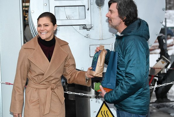 Crown Princess Victoria wore Max Mara Manuela belted camel hair coat. Meghan Markle wore the same coat