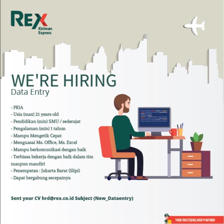 Melamar Lowongan Kerja Data Entry di Rex Exprees Slipi Jakarta Barat Februari 2018