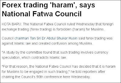 FOREX  Haram Menurut Majlis Fatwa Kebangsaan