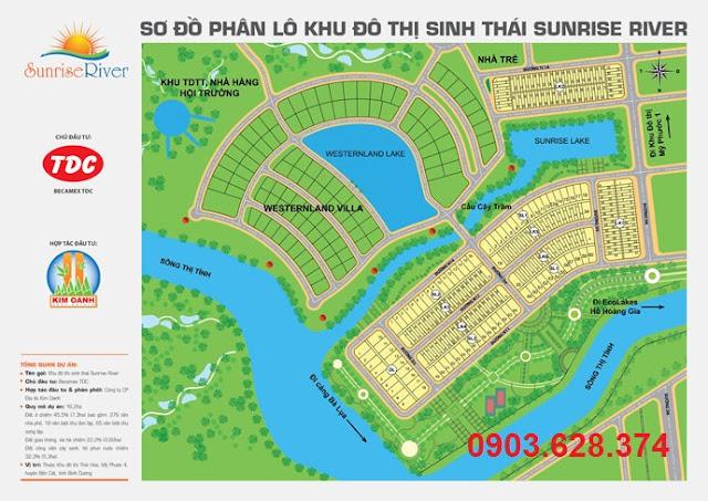 Sunrise River - Đất nền 3 mặt giáp sông, giá chỉ 1,8tr/m2