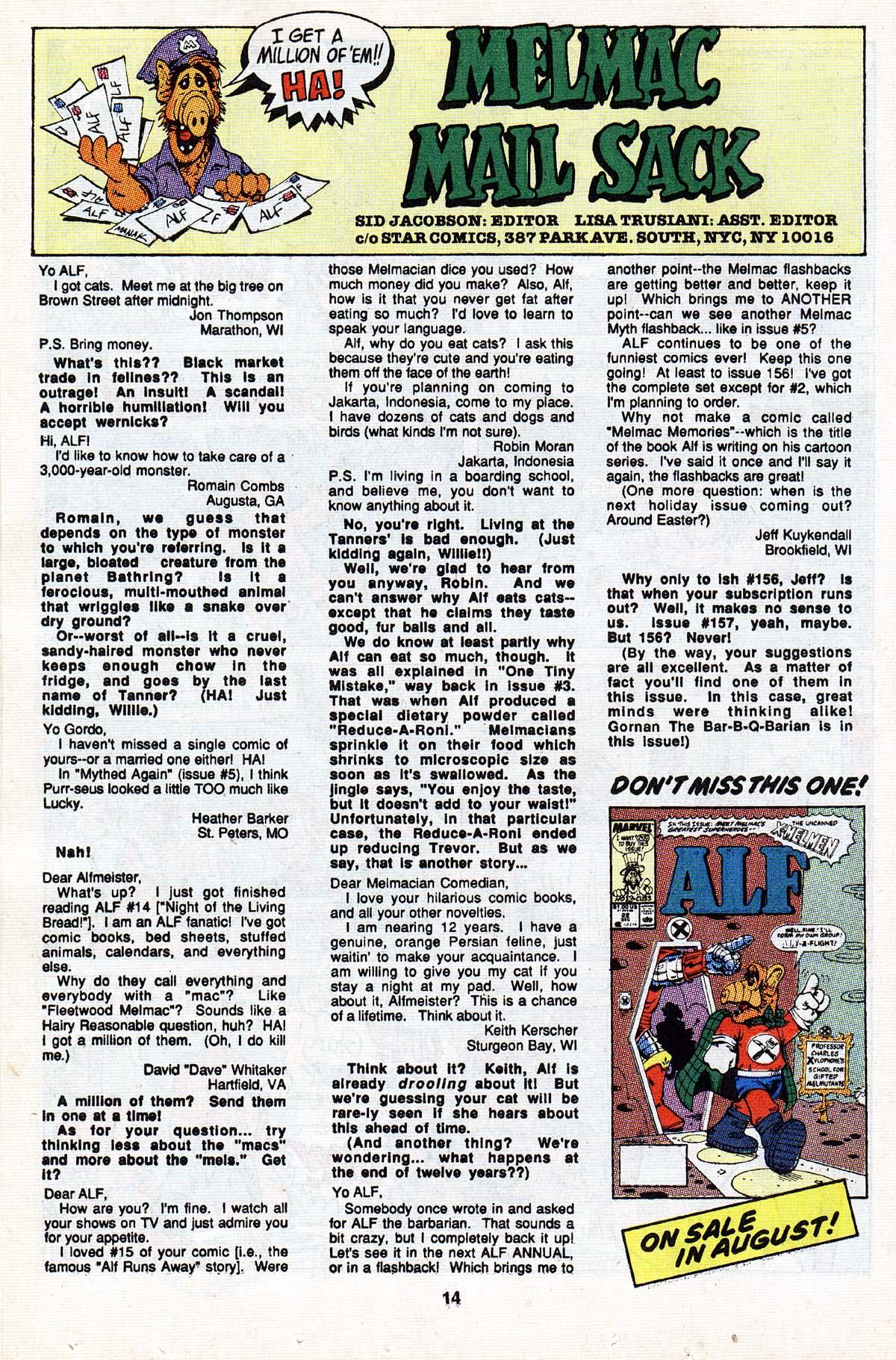 Read online ALF comic -  Issue #20 - 24