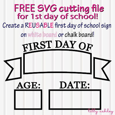 cut file silhouette freebie first day of school